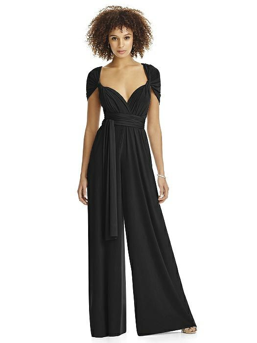 Black twist wrap jumpsuit