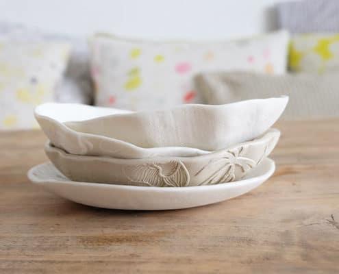 Porcelain cup floral pattern