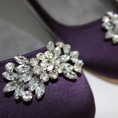 Swarovski Sparkling Crystal Purple Flats