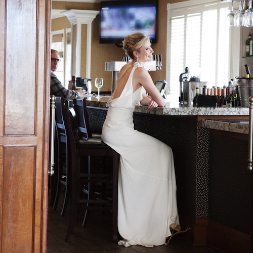 Vintage Inspired ivory long crepe dress