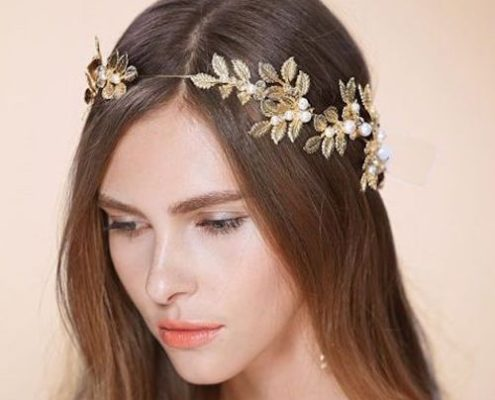 gold bridal headbands