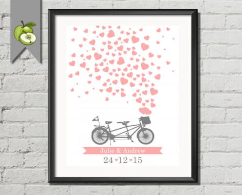 libro de firmas con bicicleta imprimible