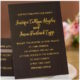 Foil-Stamped Black Gold Invitations
