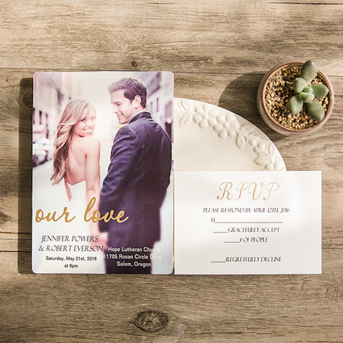 Photo wedding invitations.