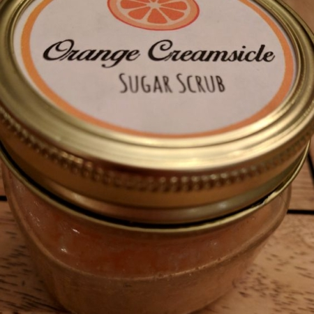 Orange creamsicle sugar scrubs.