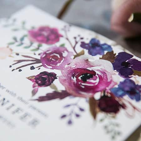 invitaciones boda florales en tonos purpura BYWI423