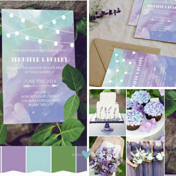 purple and green wedding invitations BYWI370